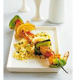 Creole Shrimp Kabobs with Couscous