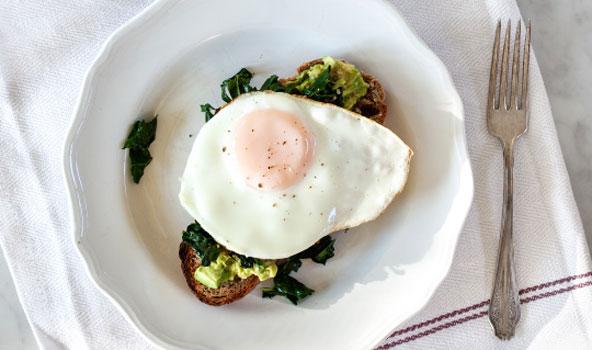 Egg lemon avocado toast 592