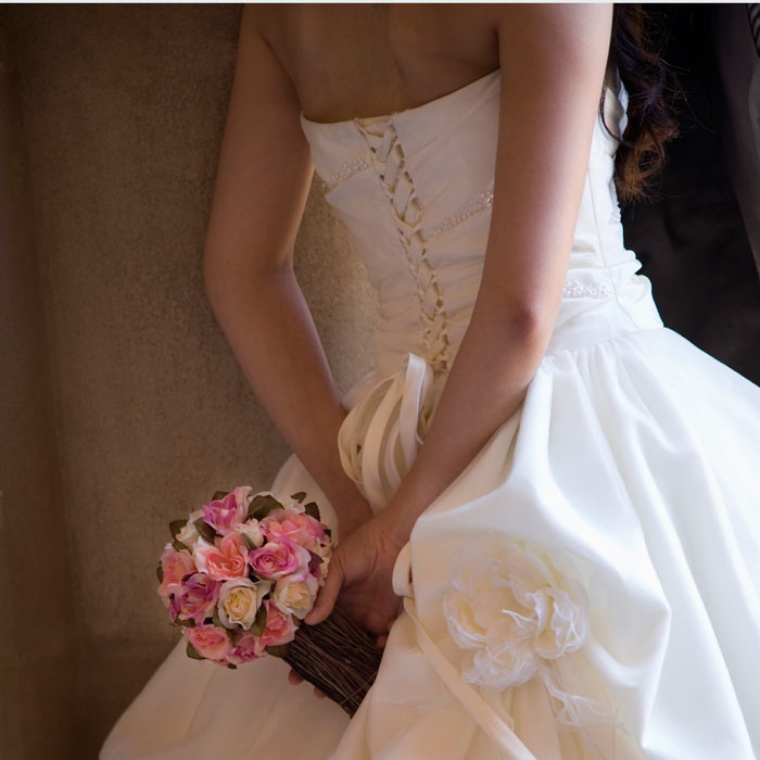Strapless Wedding Dress Back Fat