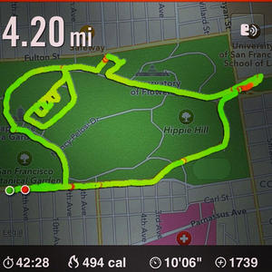 Runner Makes Drawings with Nike+ Map