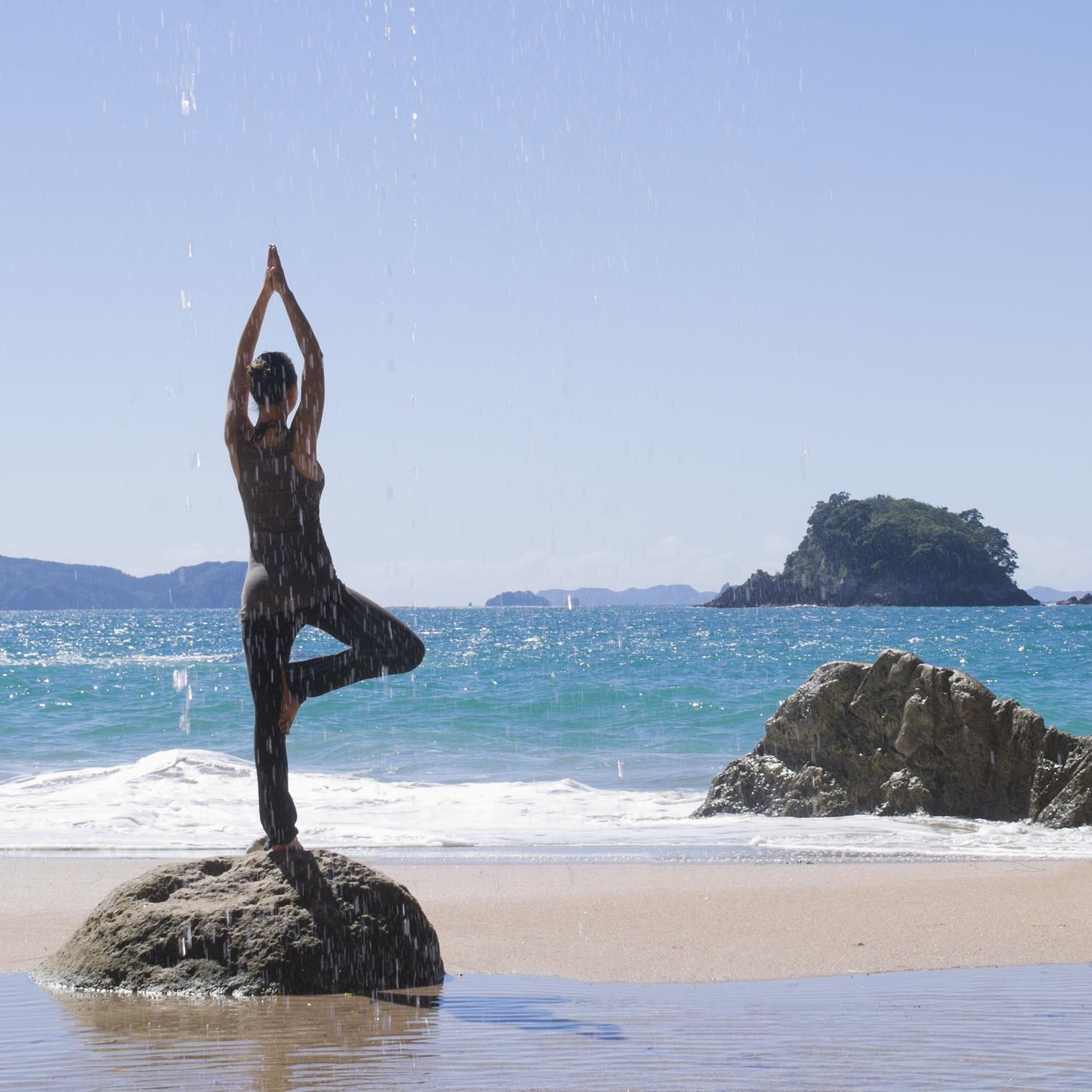 The best beach vacations to get your yoga om shape magazine for The best beach vacations