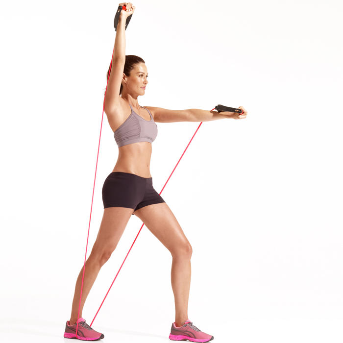 Resistance Band Mid Back Pull