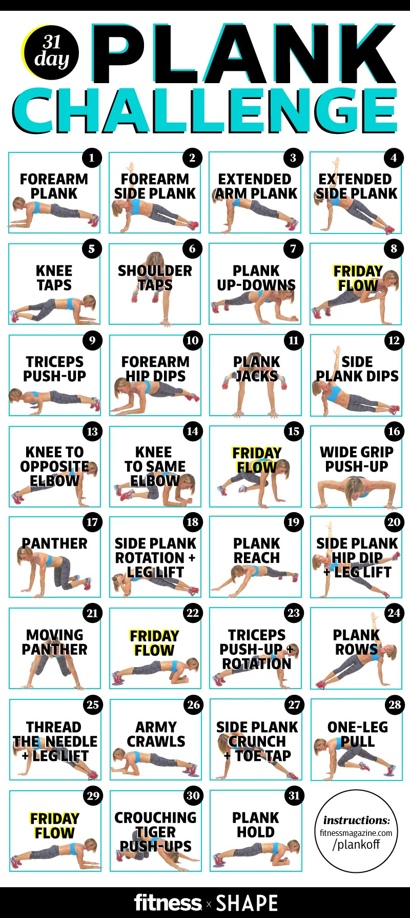 Take the Ultimate Plank Challenge...A Plank A Day in May!