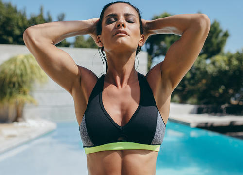 10 Waterproof Sports Bras That Double As Bathing Suit Tops
