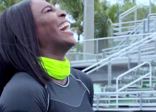 Serena Williams Pairs Up with Dude Perfect for An Epic Trick Shot Video