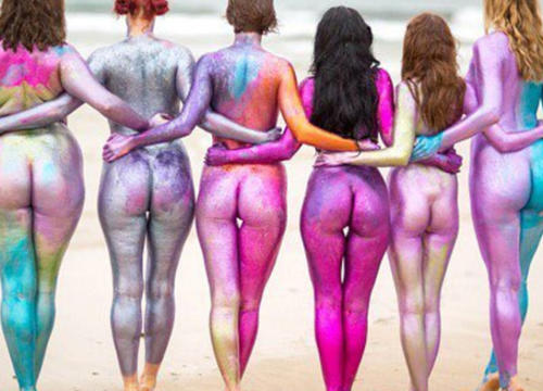 Why These Women Are Covering Their Naked Bodies In Rainbow Glitter