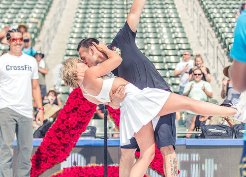 Watch This Adorably Fit Couple Get Married at the CrossFit Games
