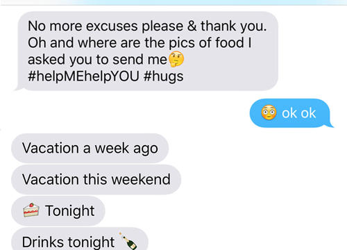 How Texting My Trainer Changed My Eating Habits