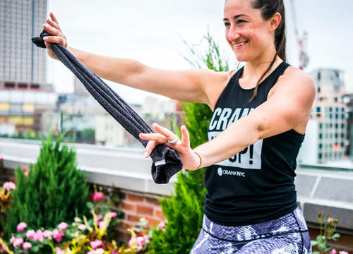 Creative Spin Class Upper Body Exercises That Only Require a Towel