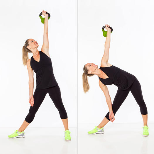 Exercise Kettlebell Overhead Windmill Modified: Best Abs Exercises To Lose Belly Fat
