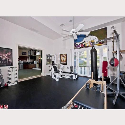 Pictures of celebrity home gyms shape magazine
