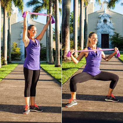 Sliding Plie Squat Pull Resistance Band