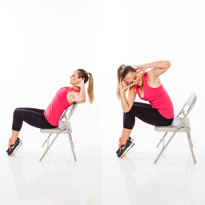 Seated full body workout routine shape magazine for Chair workouts