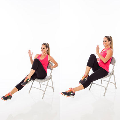 Seated full body workout routine shape magazine for Chair zumba