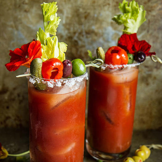 Hot and spicy bloody mary recipes brunch cocktails - Cocktail bloody mary ...