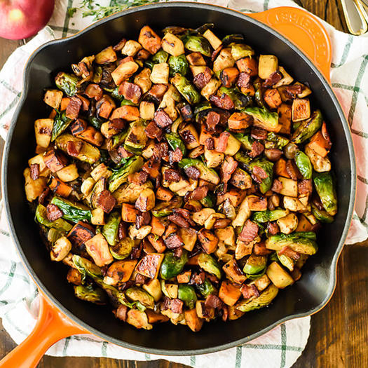 10 seriously addictive brussels sprouts recipes shape for Chicken and brussel sprouts skillet