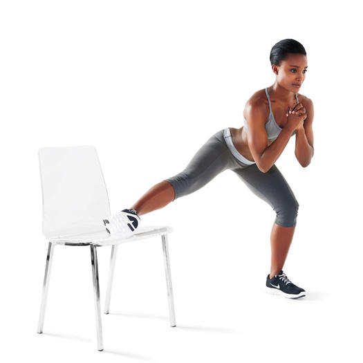 Strength training workouts 8 wall chair exercises for for Chair workouts