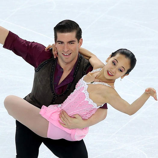 Real-life couples to dance on ice