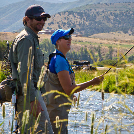 Why ski towns make the best healthy summer vacation spots for Park city fly fishing