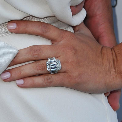 engagement ring trend over the top - Khloe Kardashian Wedding Ring