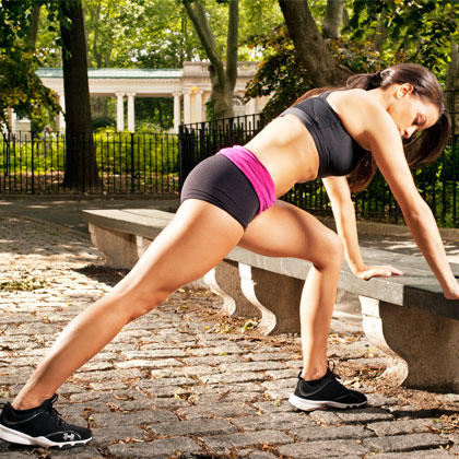 Outdoor Workout Routine: Total-Body Toning with a Park Bench | Shape ...