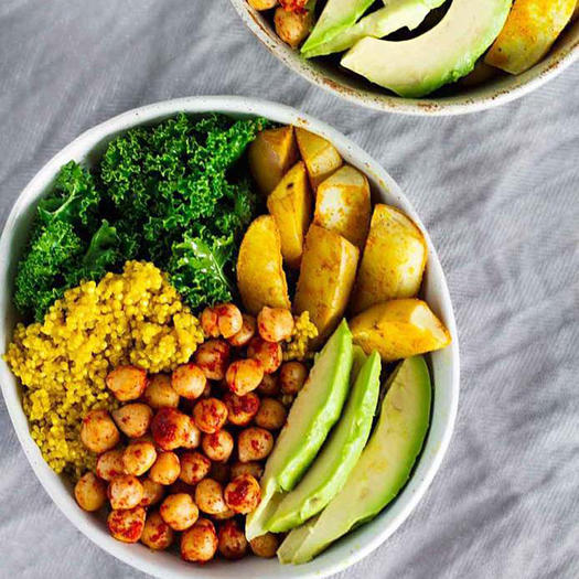vegan tumeric bowl.