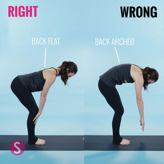 How to do a forward fold half lift in yoga
