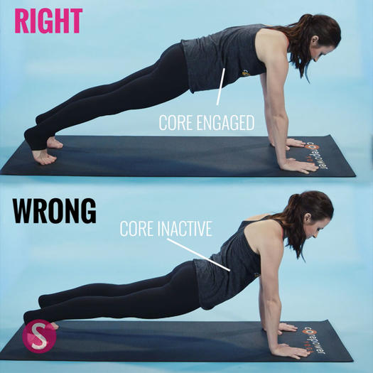 How to do a plank in yoga