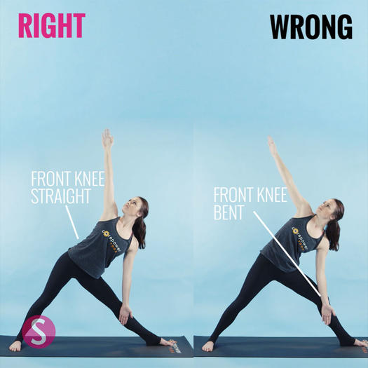 How to do triangle pose in yoga