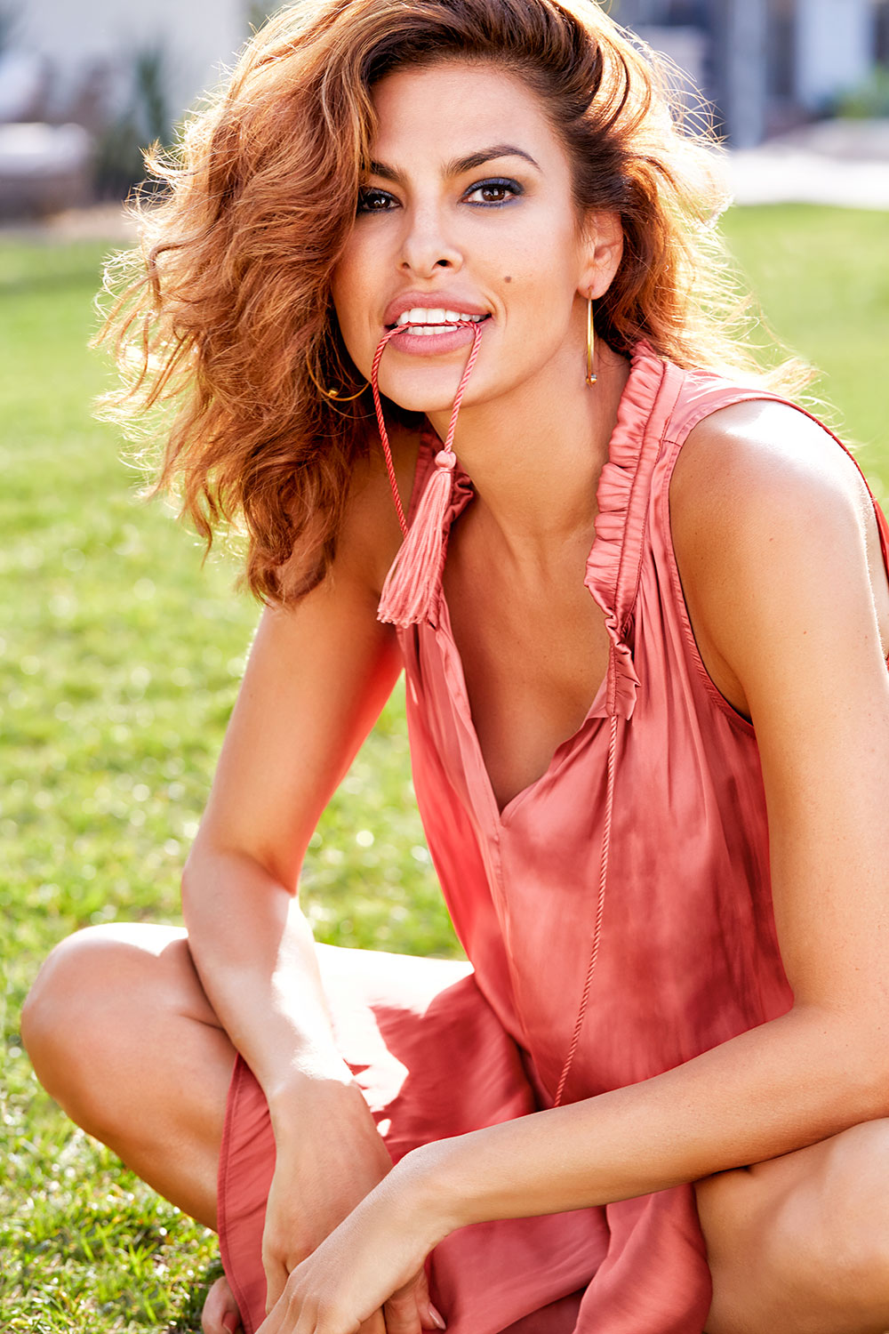 Eva Mendes Shares Her Beauty and Fitness Tips In the April ...