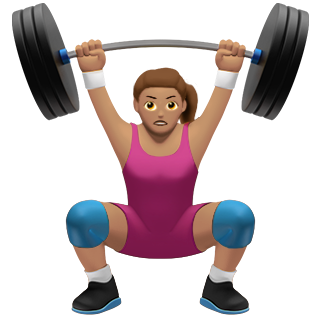 hot woman working out emoji