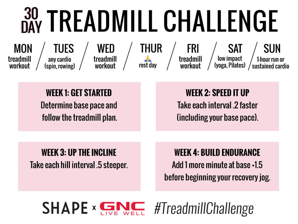 The 30-Day Treadmill Workout Challenge That's Actually Fun