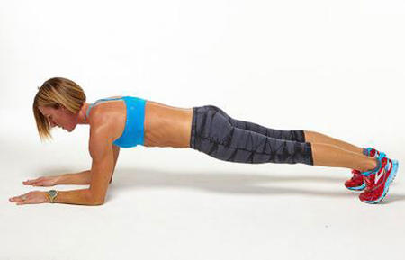 forearm plank challenge workout move