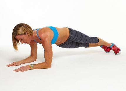 Low Plank with Hip Dips workout challenge
