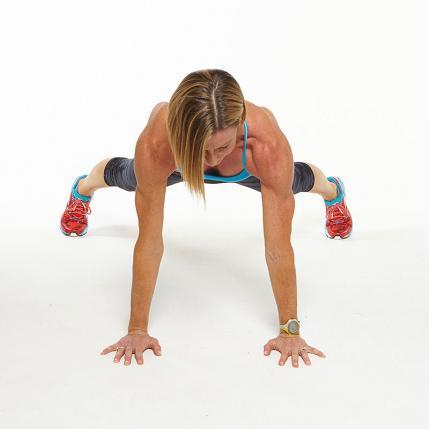 Plank Jacks workout challenge move
