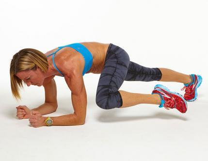 plank challenge workout move side mountain climber
