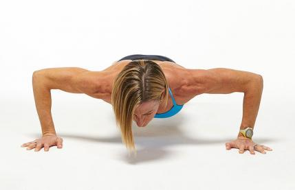 Standard Wide Grip Push-Up plank workout challenge