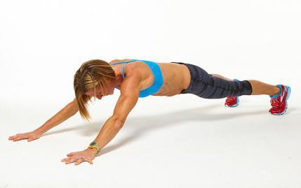 High Plank Reach workout challenge