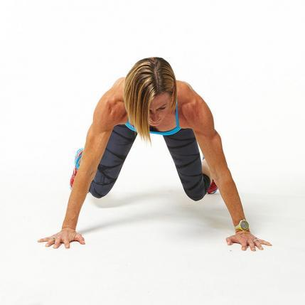 Moving Lateral Panther Plank workout challenge
