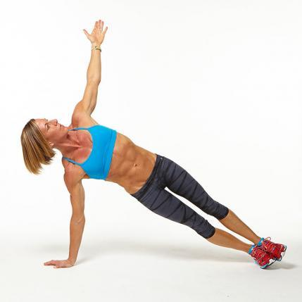 Triceps Push-Up with Rotation plank workout challenge