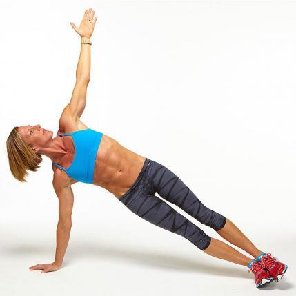 High Side Plank challenge workout move