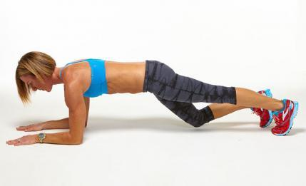 Low Plank with Knee Taps challenge workout move