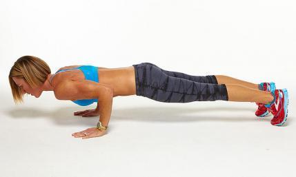 Basic Triceps Push-Up plank challenge workout move