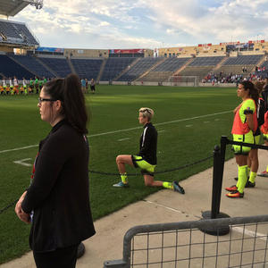 Megan Rapinoe Joins Colin Kaepernick's Protest, Takes a Knee During Star-Spangled Banner