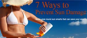 7 Ways to Prevent Sun Damage