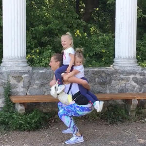 This Creative Mom of Three Finds a Way to Work Out with All of Her Kids