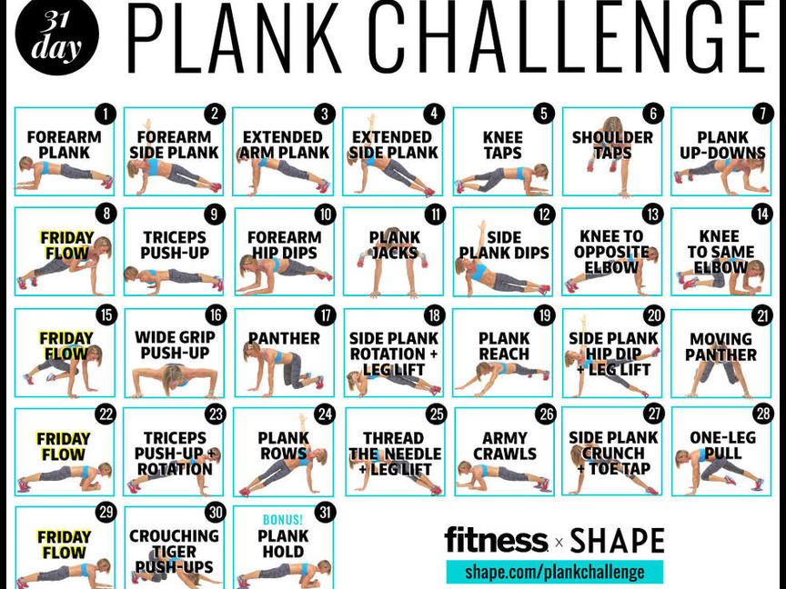 30 Day Challenge Shape Magazine
