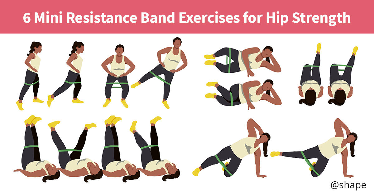 Mini Resistance Band Exercises For Hip Strength Shape Magazine