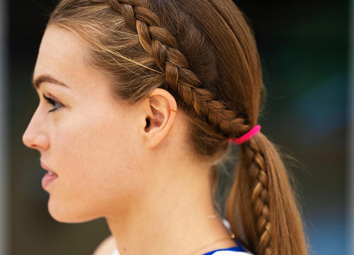 3 Sweat-Tested Braided Hairstyles from Runner Colleen Quigley