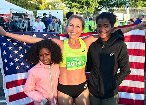 What Running Has Taught Sara Hall and How She's Passing These Lessons Along to Her Kids